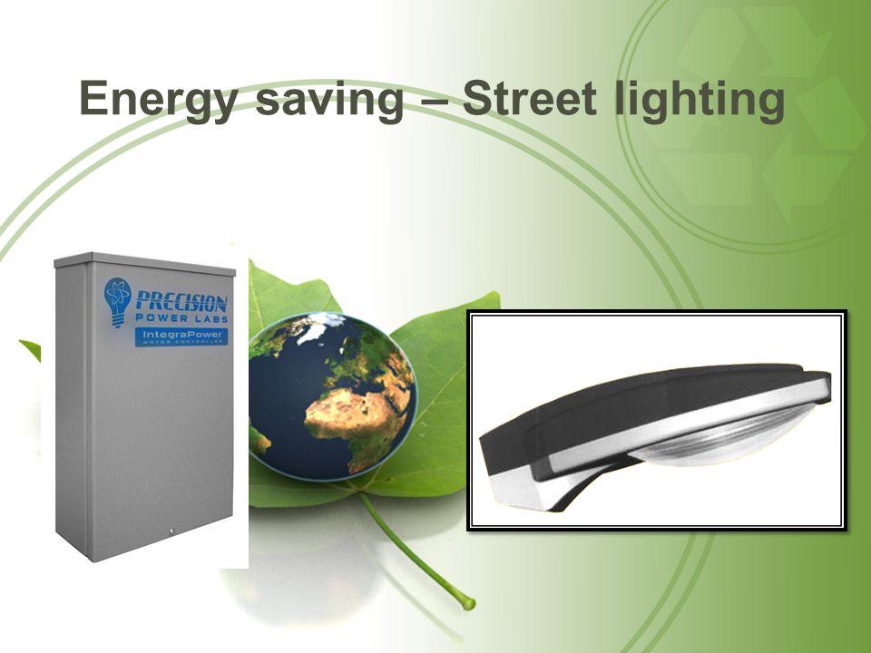 Energy saving – Street lighting
