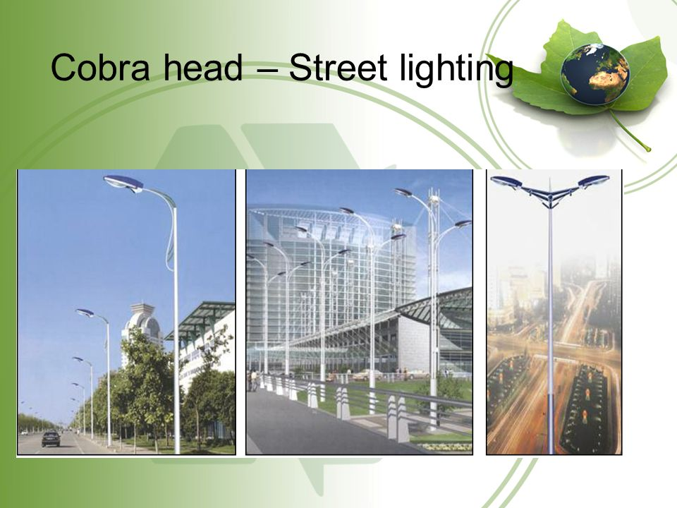 Cobra head – Street lighting