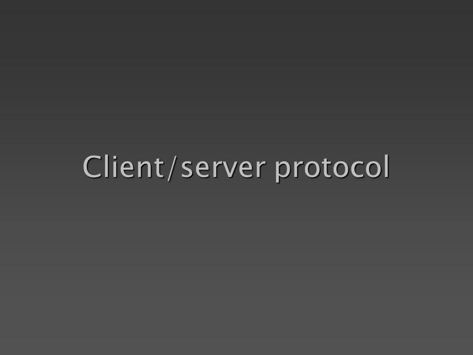 Client/server protocol