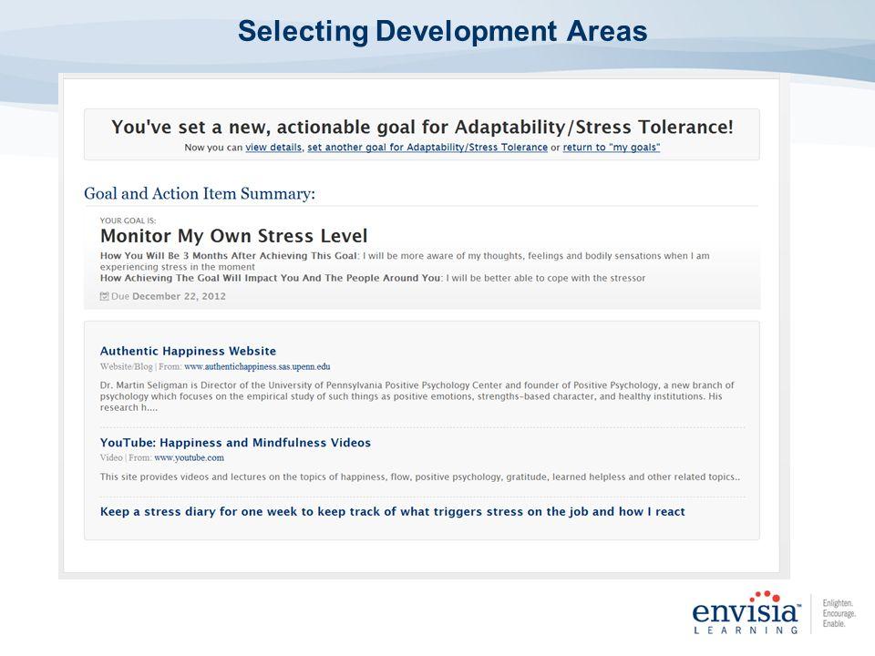 Selecting Development Areas