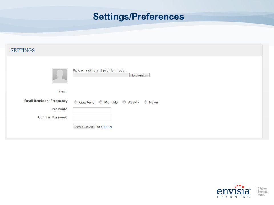 Settings/Preferences