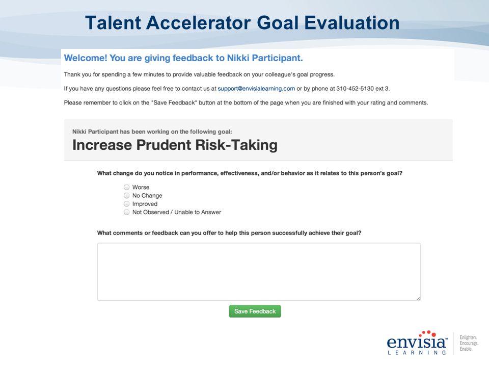 Talent Accelerator Goal Evaluation