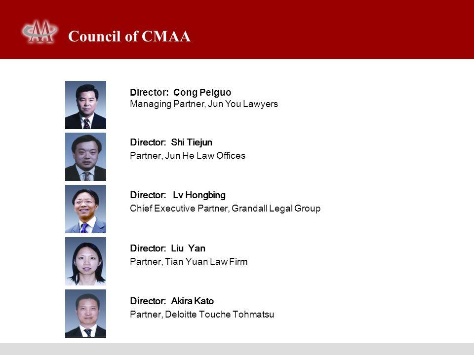 Director: Kwon Jaeryun Chairman, Korea M&A Corporation Director: Patrick Wu General Manager, American Appraisal Associates, Inc.