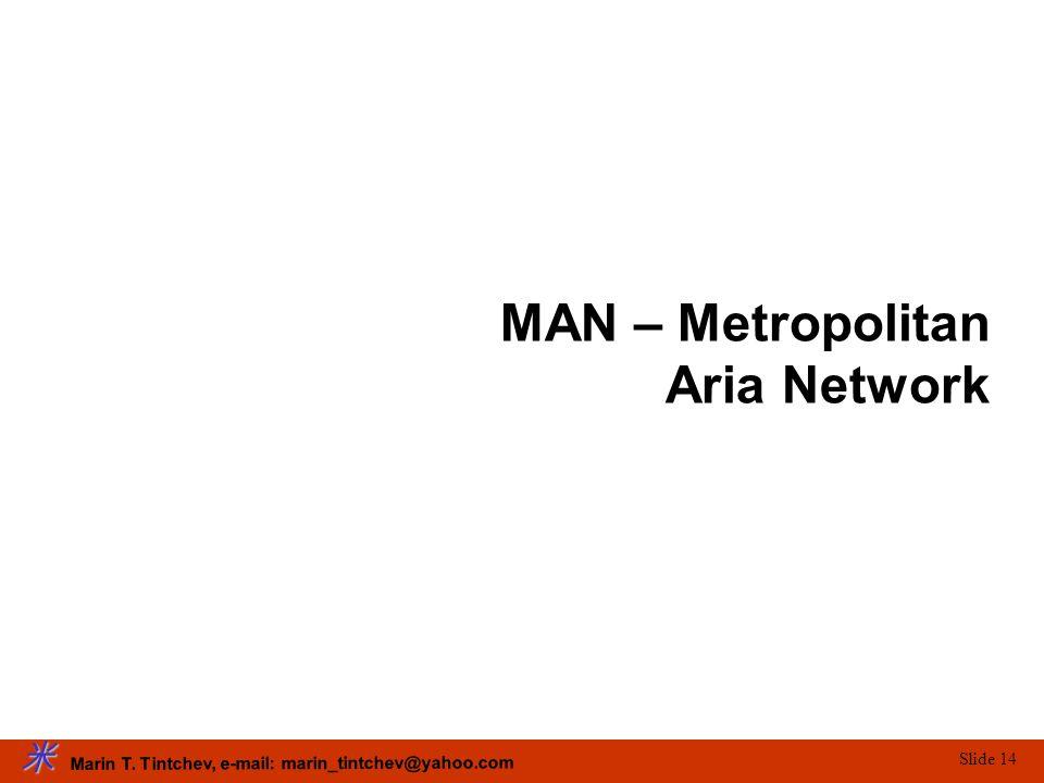 Marin T. Tintchev, e-mail: marin_tintchev@yahoo.com Slide 14 MAN – Metropolitan Aria Network