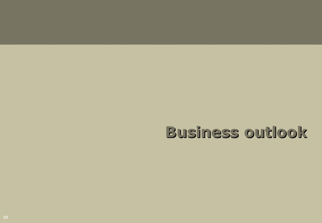 20 Business outlook