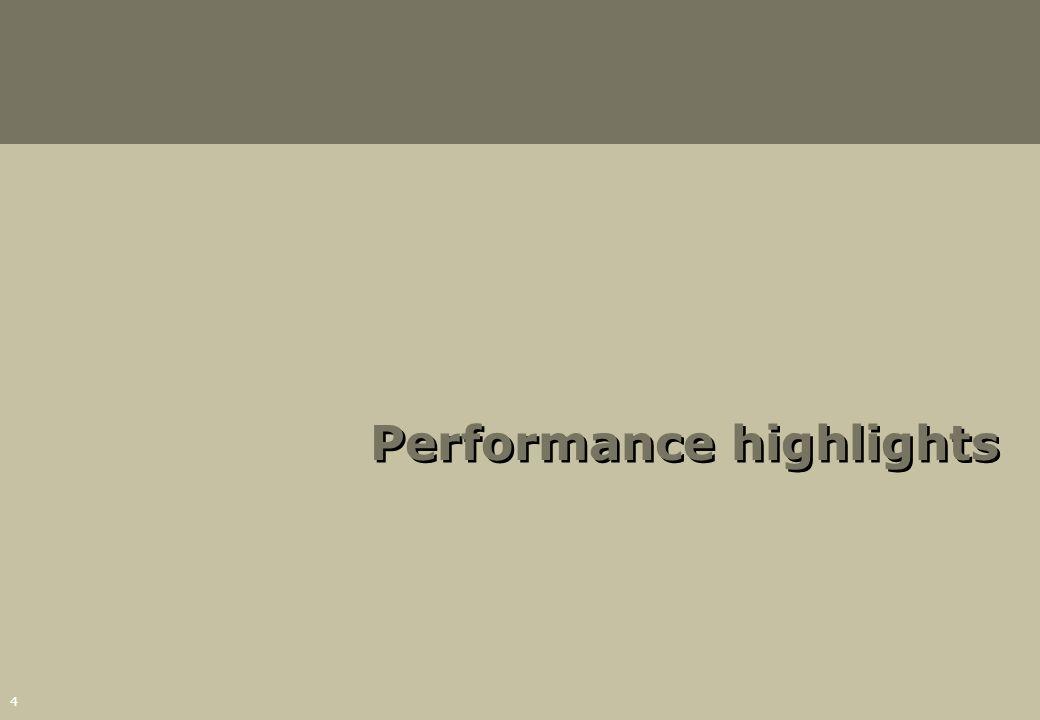 4 Performance highlights