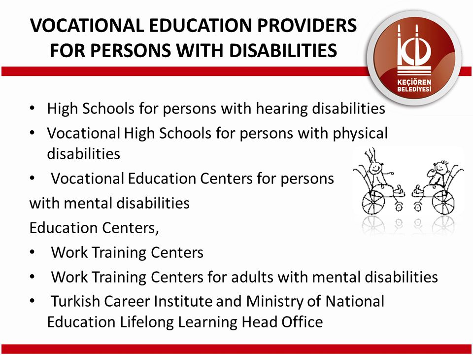High Schools for persons with hearing disabilities Vocational High Schools for persons with physical disabilities Vocational Education Centers for per