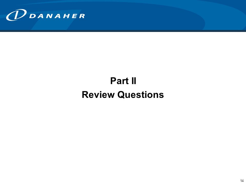 14 Part II Review Questions