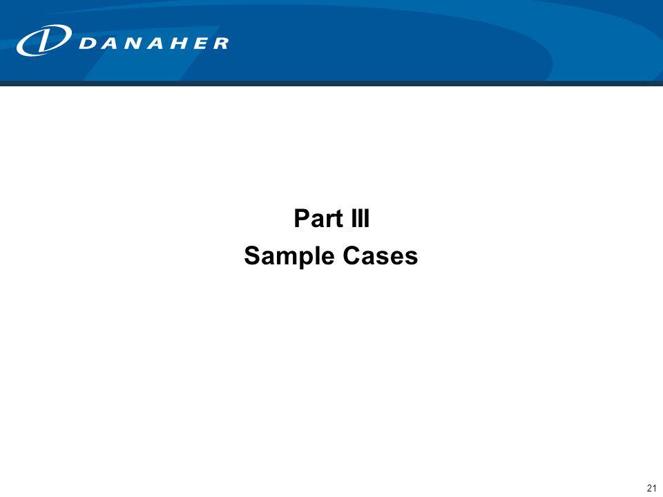 21 Part III Sample Cases