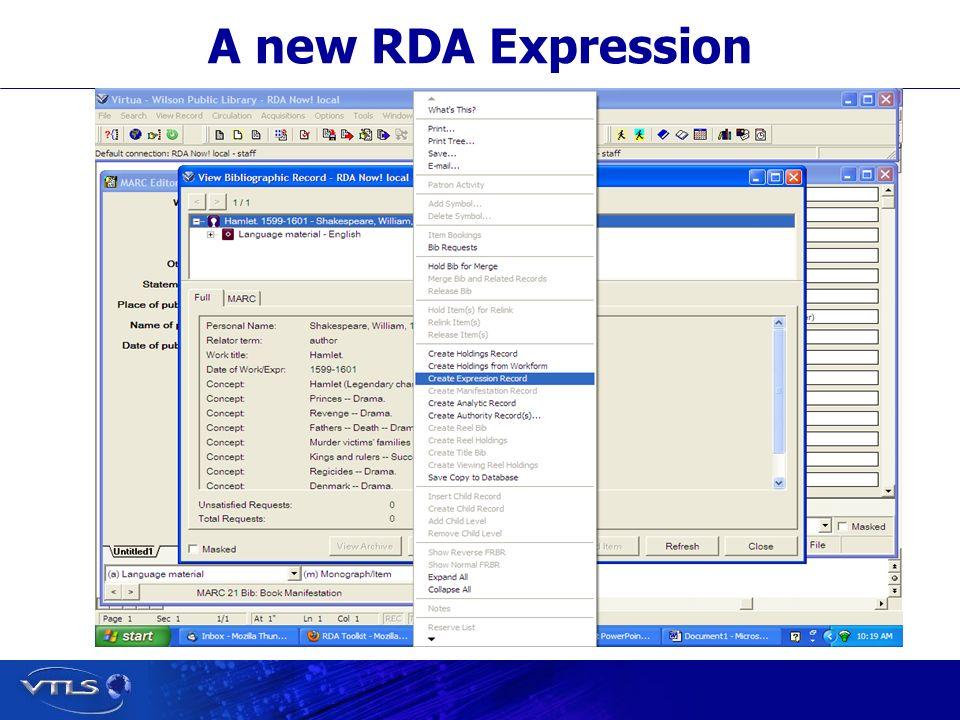 A new RDA Expression