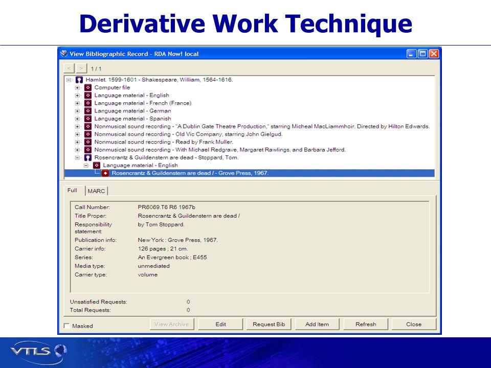 Derivative Work Technique