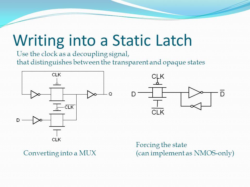 Master-Slave Register Multiplexer-based latch pair