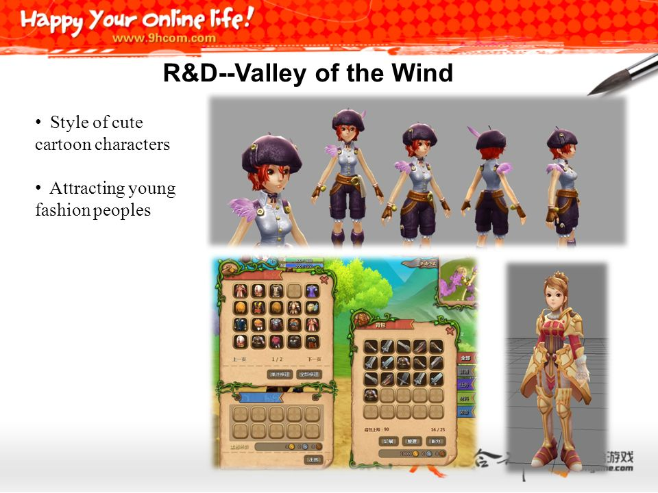 Style of cute cartoon characters Attracting young fashion peoples R&D--Valley of the Wind