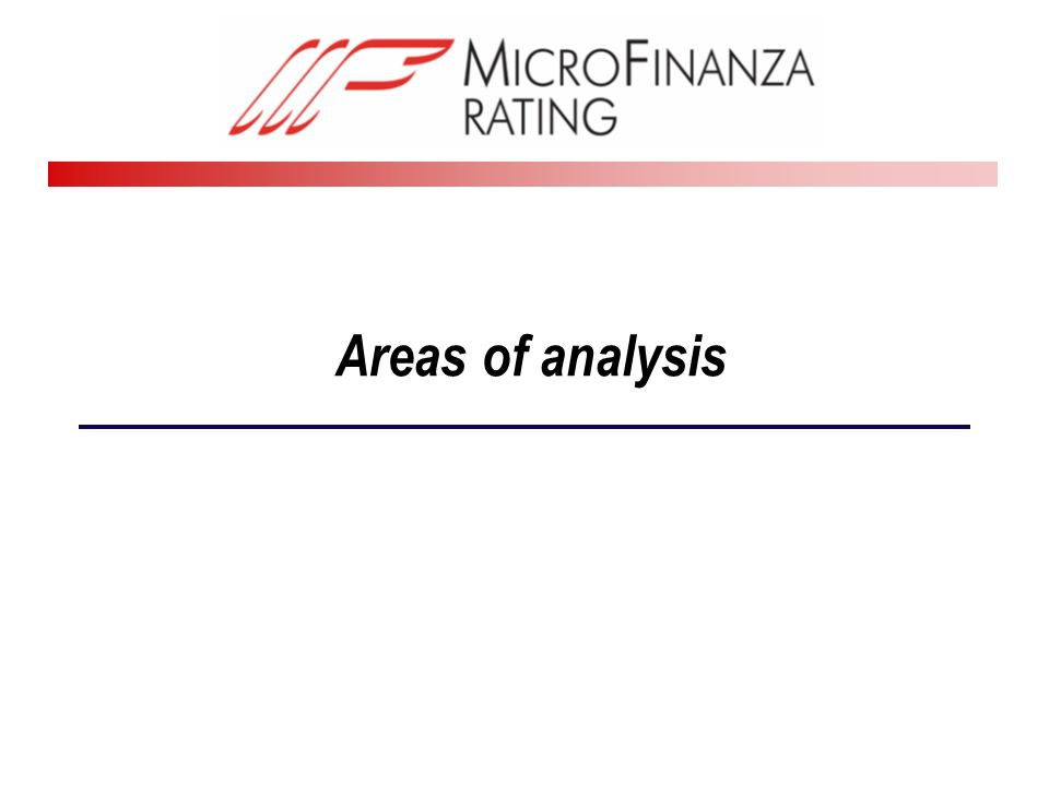 Areas of analysis