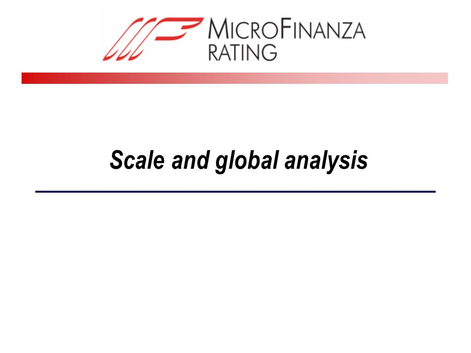 Scale and global analysis
