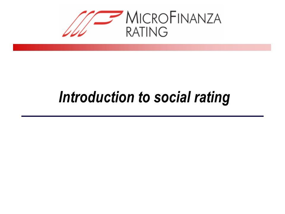 Introduction to social rating
