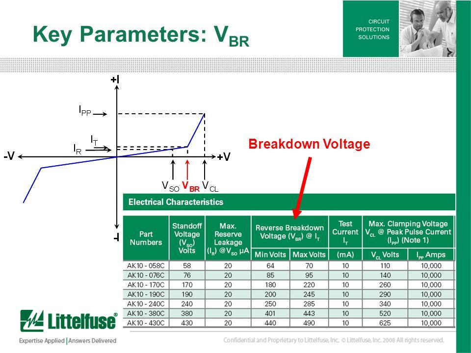 11 Version01_100407 Key Parameters: V BR Breakdown Voltage