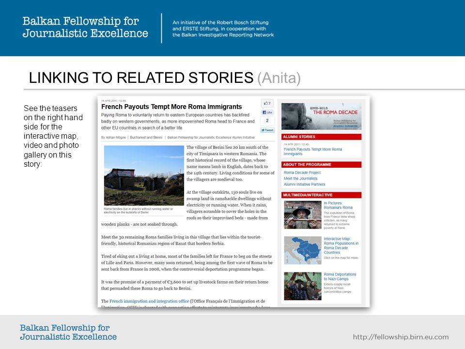LINKING TO RELATED STORIES (Anita) See the teasers on the right hand side for the interactive map, video and photo gallery on this story: