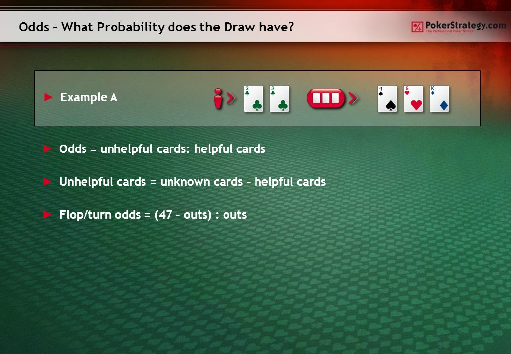 Odds – What Probability does the Draw have.