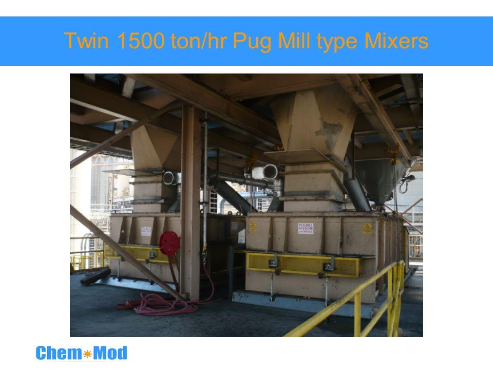 Twin 1500 ton/hr Pug Mill type Mixers