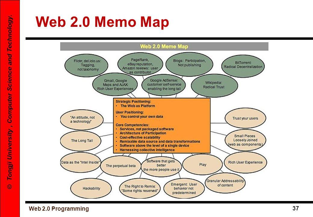 Web 2.0 Programming 37 © Tongji University, Computer Science and Technology. Web 2.0 Memo Map