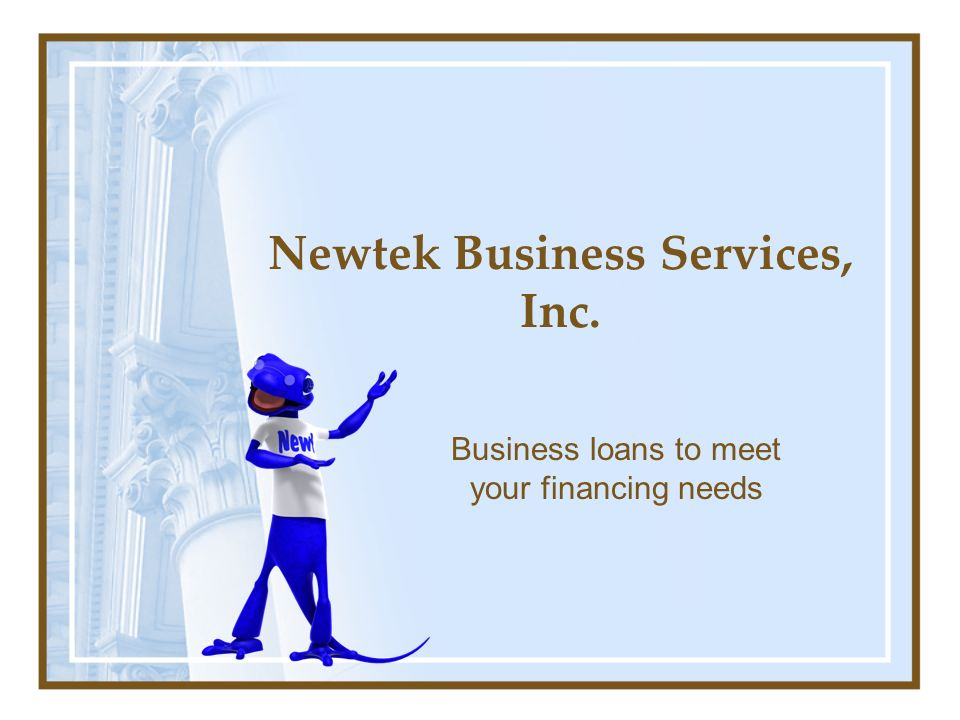 Newtek Business Services, Inc. Business loans to meet your financing needs