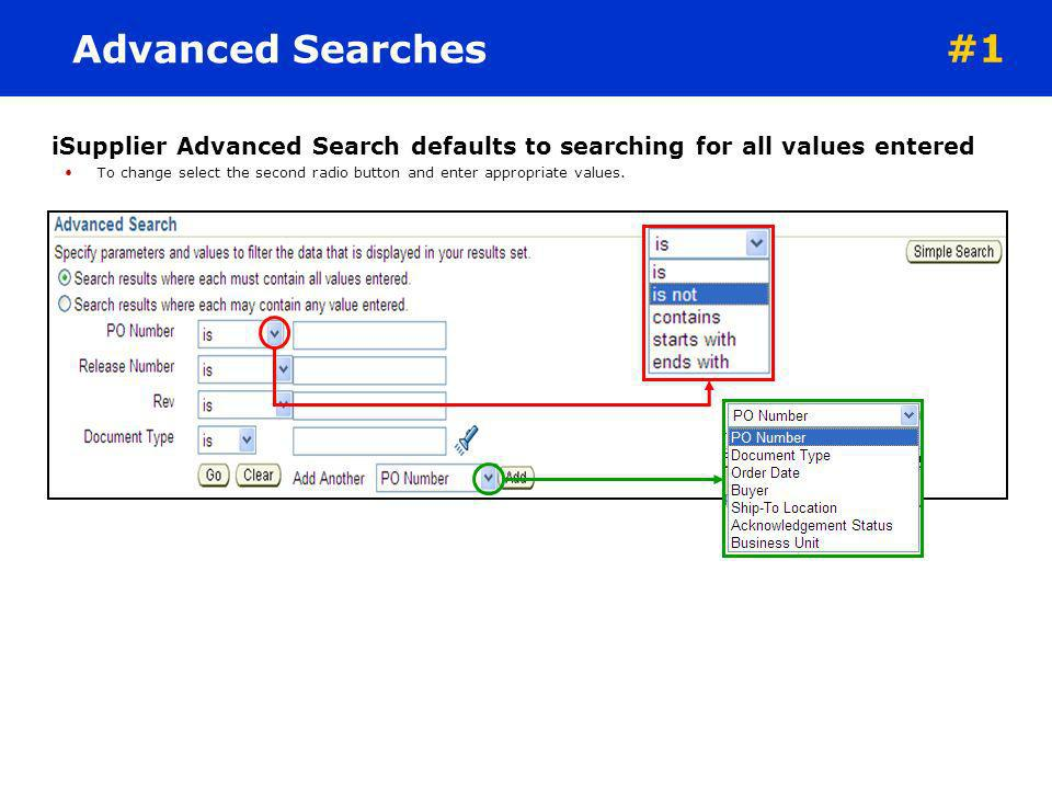Search Options The portal home pages search field enables the system to be searched via document number. Quickly find information about: Purchase Orde