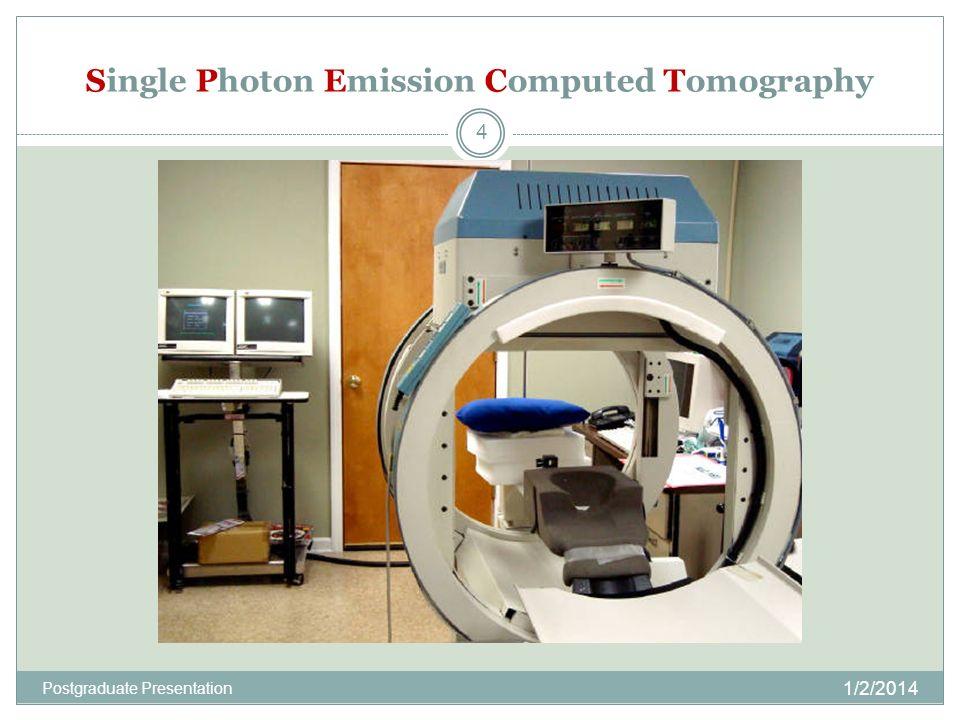 Single Photon Emission Computed Tomography 1/2/2014 4 Postgraduate Presentation