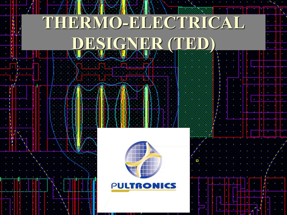 Votre logo ici THERMO-ELECTRICAL DESIGNER (TED)