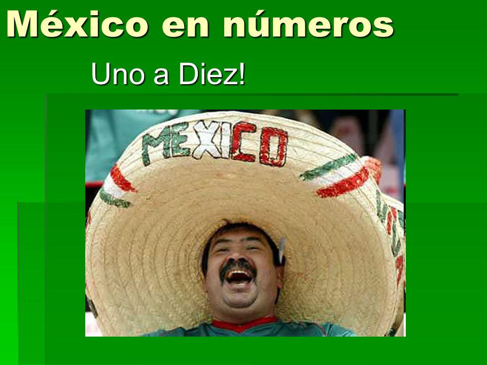 México en números Uno a Diez!