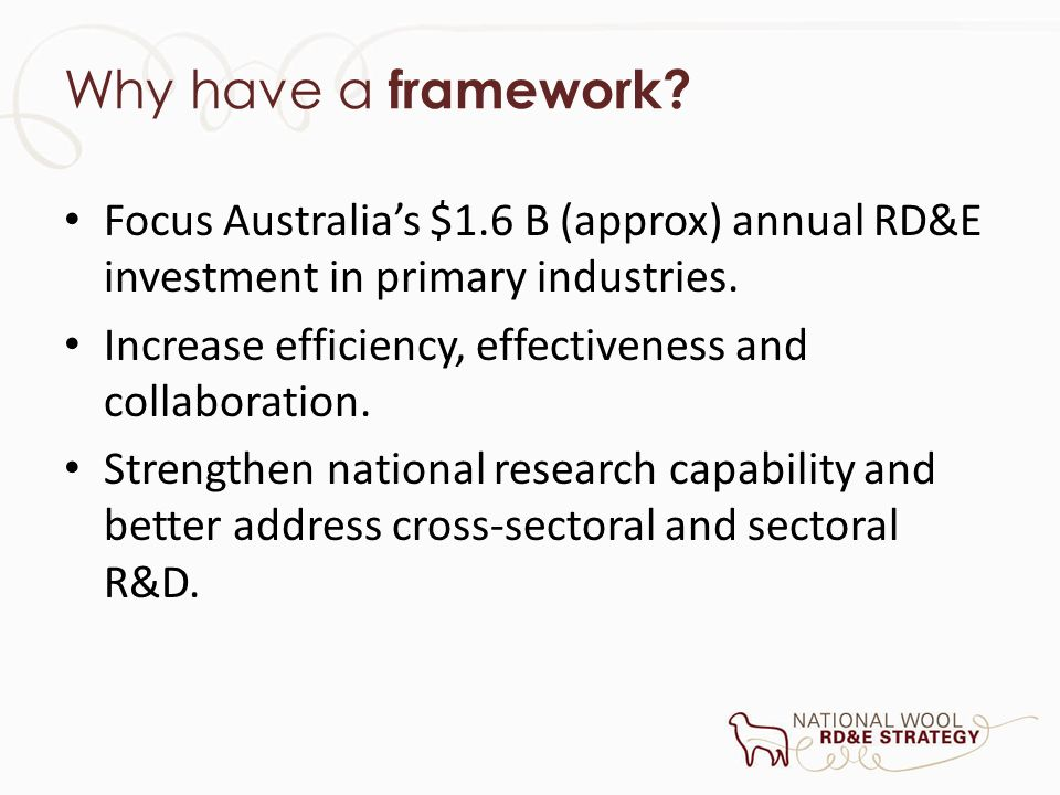 What is included in the Framework.