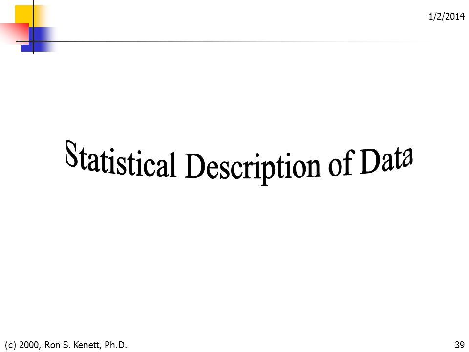 1/2/2014 (c) 2000, Ron S. Kenett, Ph.D.39
