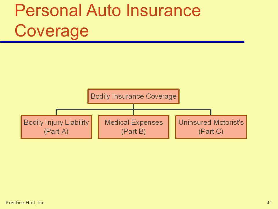 Prentice-Hall, Inc.41 Personal Auto Insurance Coverage