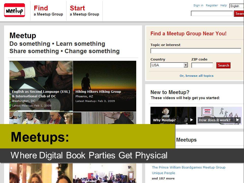 Meetups: Where Digital Book Parties Get Physical