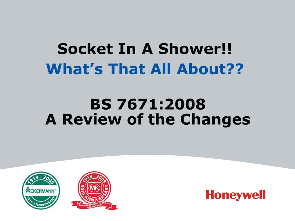 BS 7671:2008 A Review of the Changes Socket In A Shower!! Whats That All About