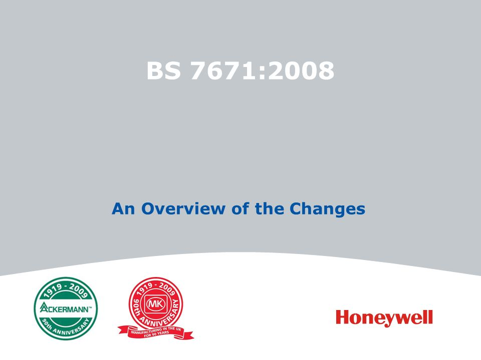 BS 7671:2008 An Overview of the Changes