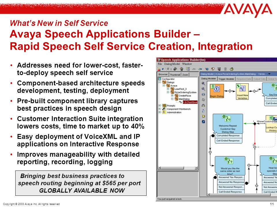 11 Copyright © 2003 Avaya Inc.