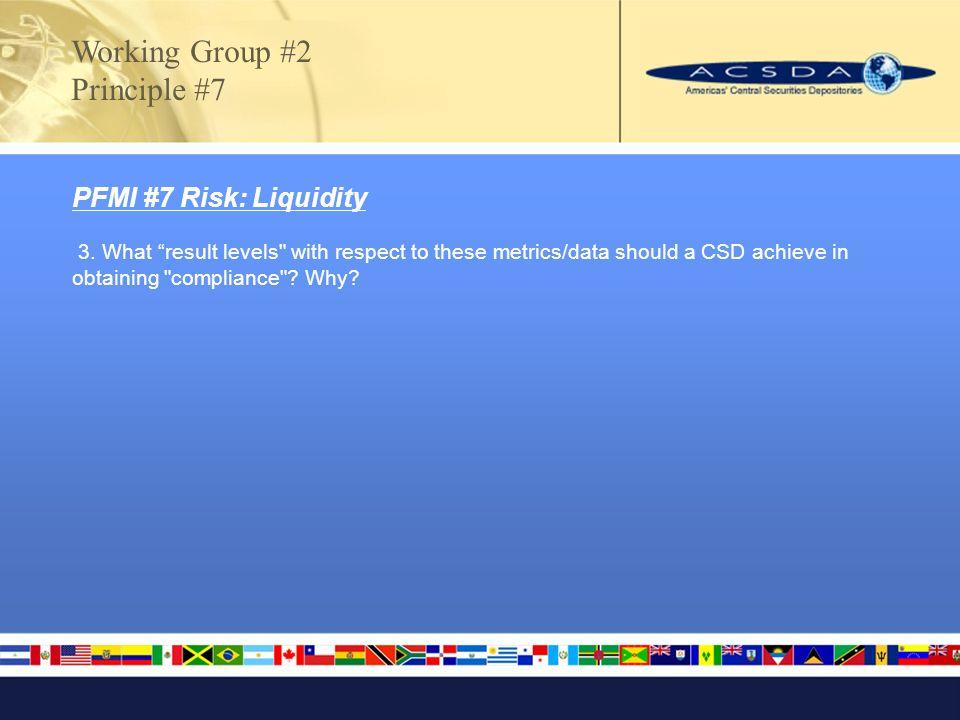 PFMI #7 Risk: Liquidity 3.
