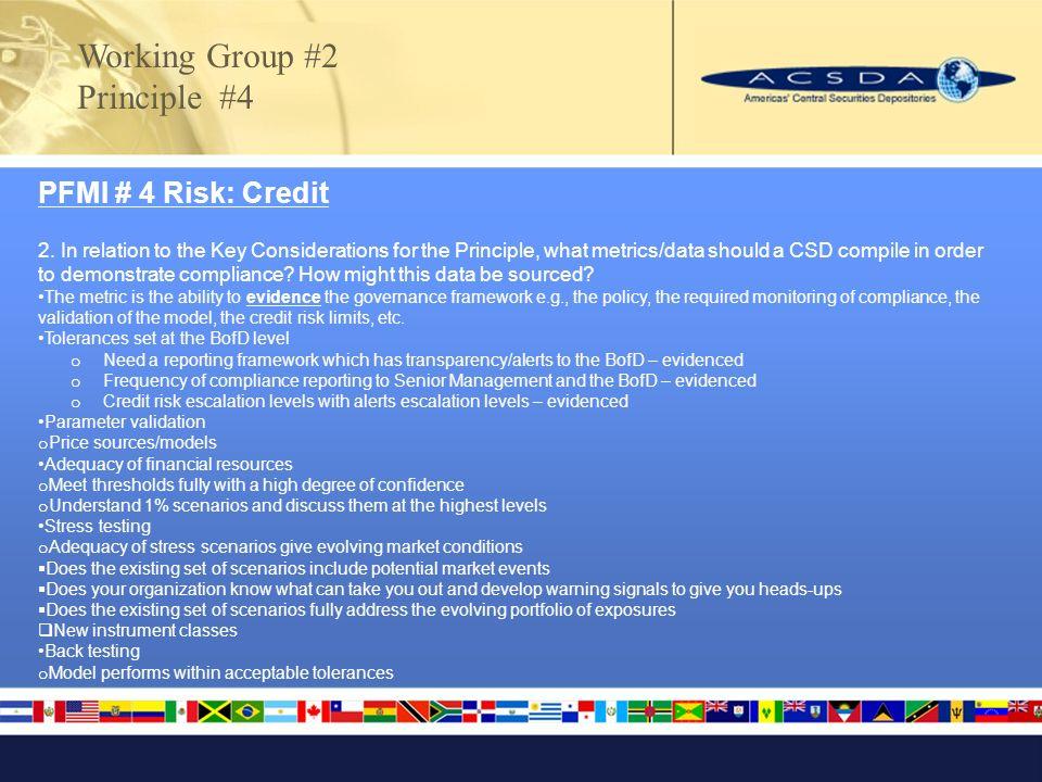 PFMI # 4 Risk: Credit 2.