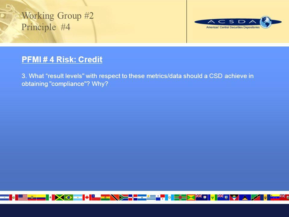 PFMI # 4 Risk: Credit 3.