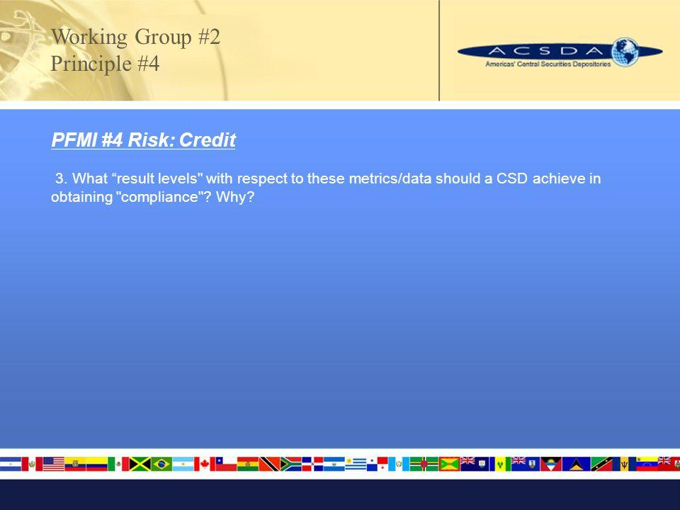 PFMI #4 Risk: Credit 3.