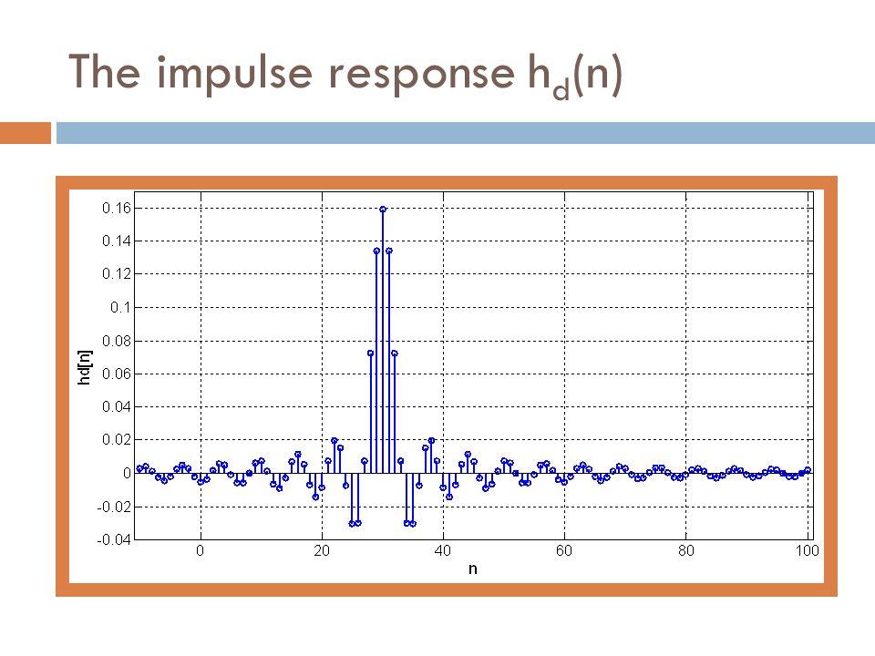The impulse response h d (n)