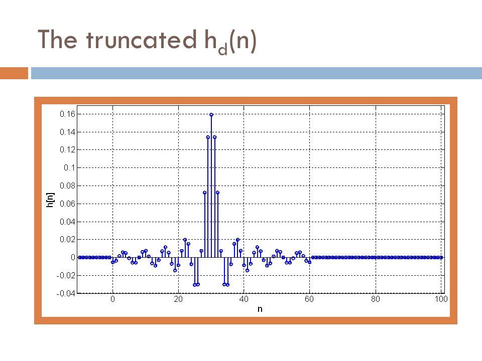 The truncated h d (n)