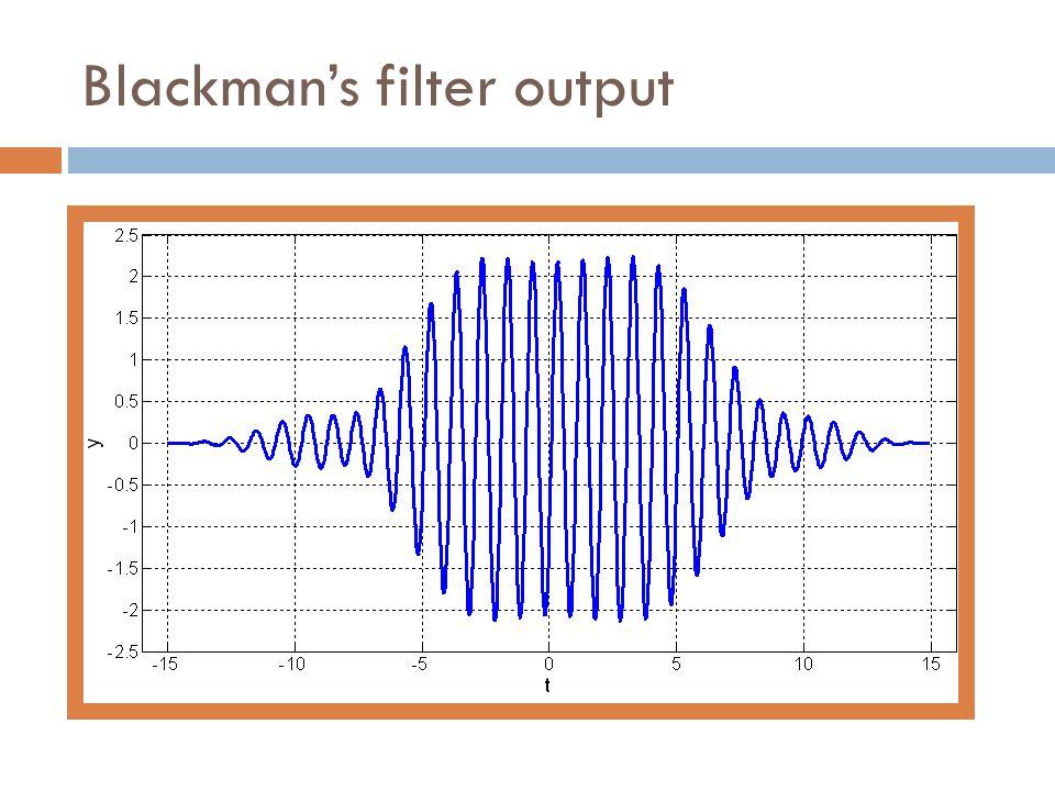 Blackmans filter output