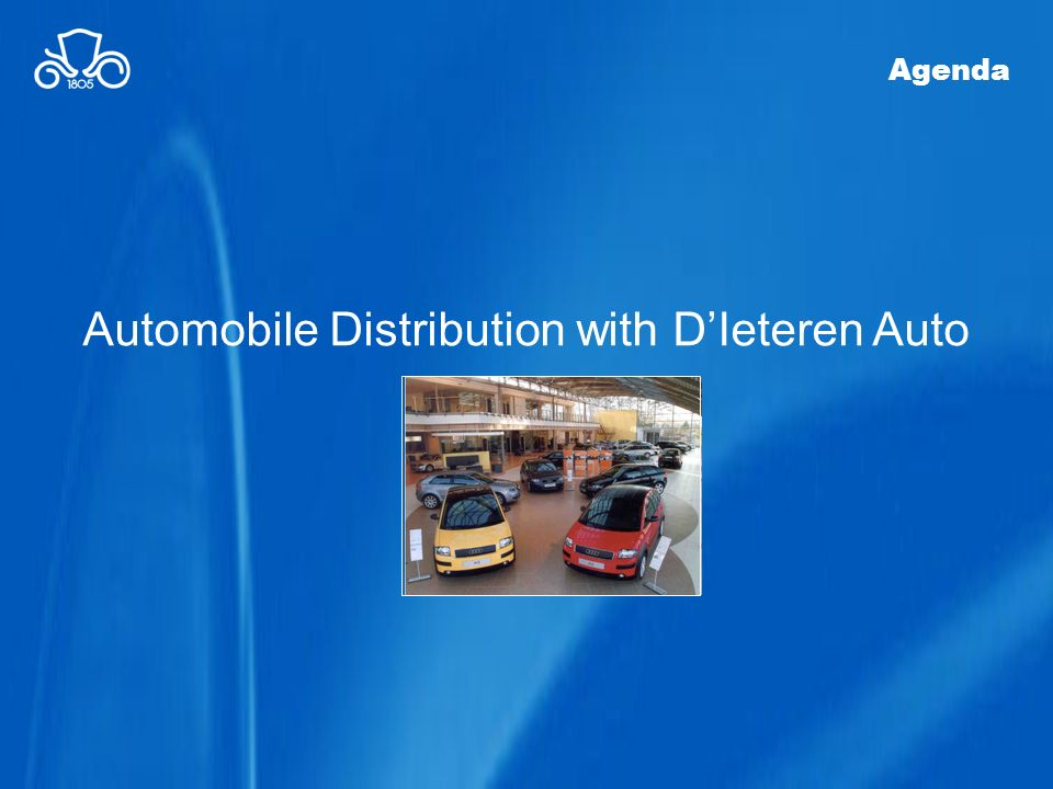 Automobile Distribution with DIeteren Auto Agenda