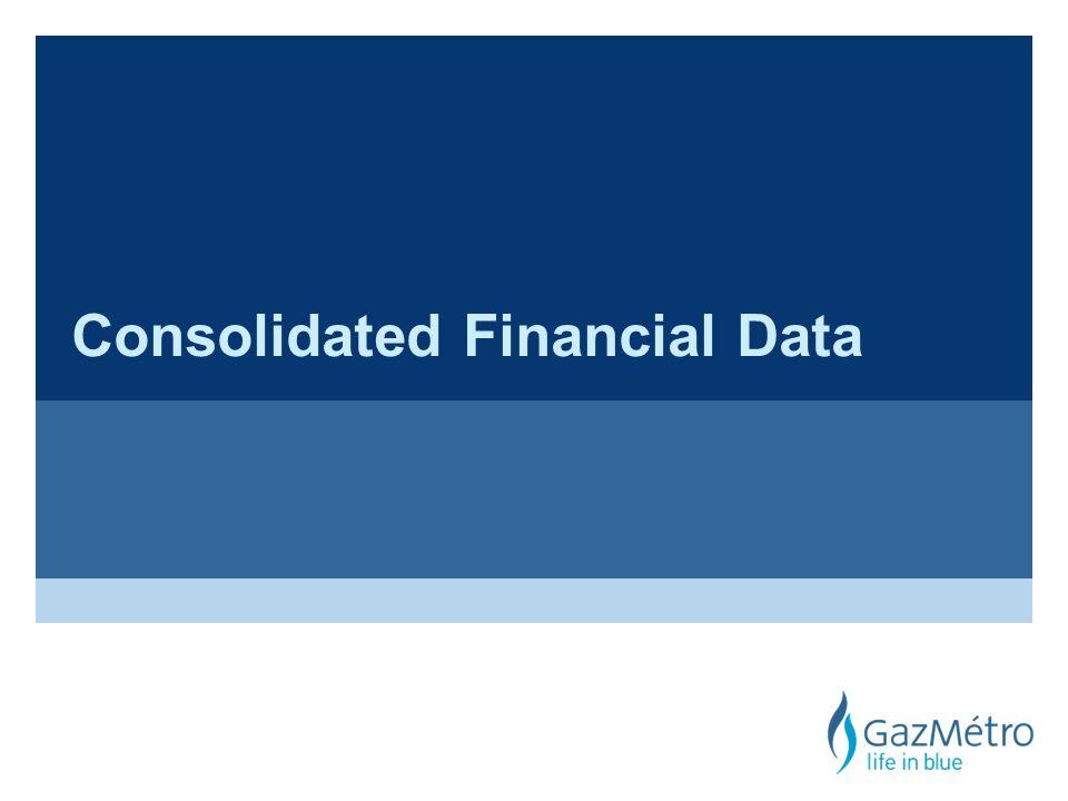 Consolidated Financial Data