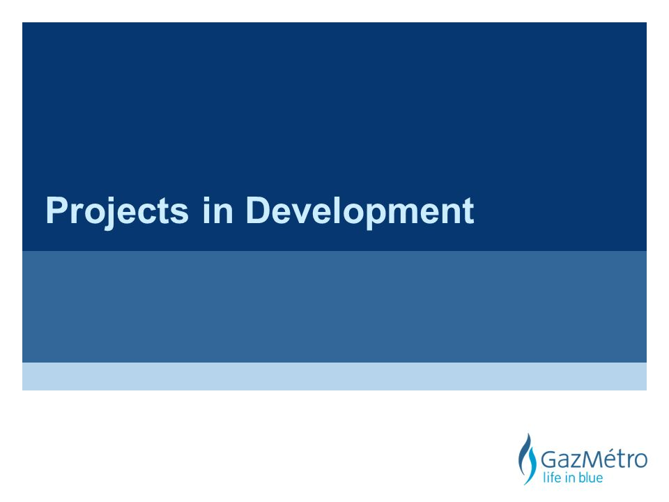 Projects in Development