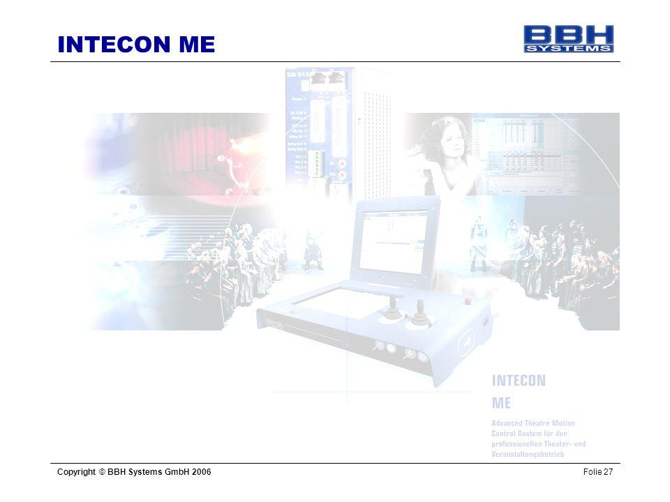 INTECON ME Copyright © BBH Systems GmbH 2006Folie 27