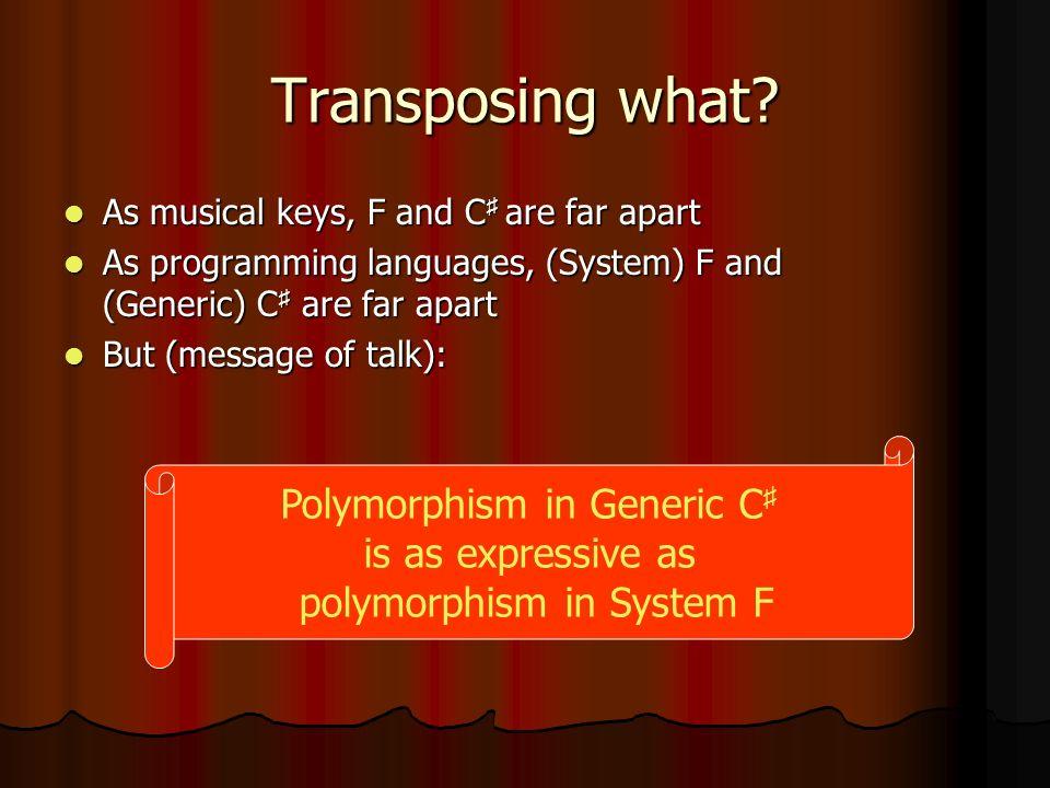 Transposing what.