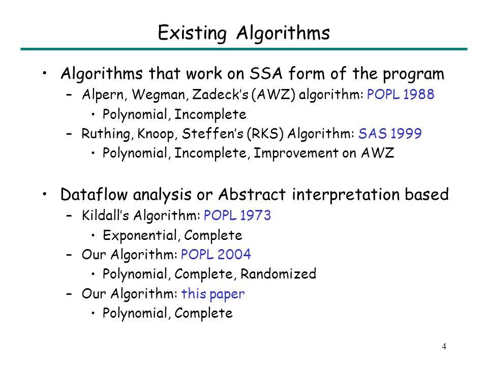 3 Non-trivial Example assert(x = y); assert(z = F(y)); * x := a; y := a; z := F(a); x := b; y := b; z := F(b);